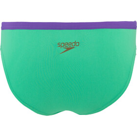 speedo Solid Bas de maillot Taille haute Femme, green glow/ultra violet